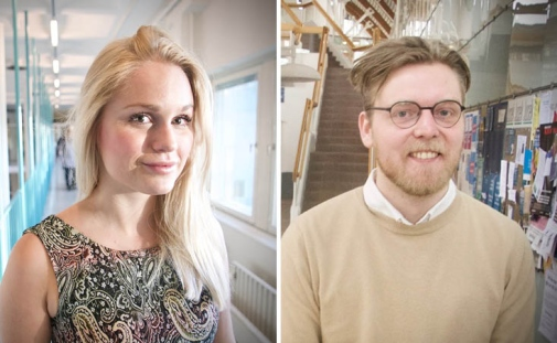 PhD students Amanda Almstedt Valldor and Edvin Syk